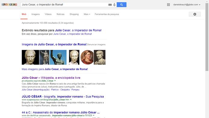 O Google possui corretor ortográfico e desconsidera letras maiúsculas e grande parte das pontuações